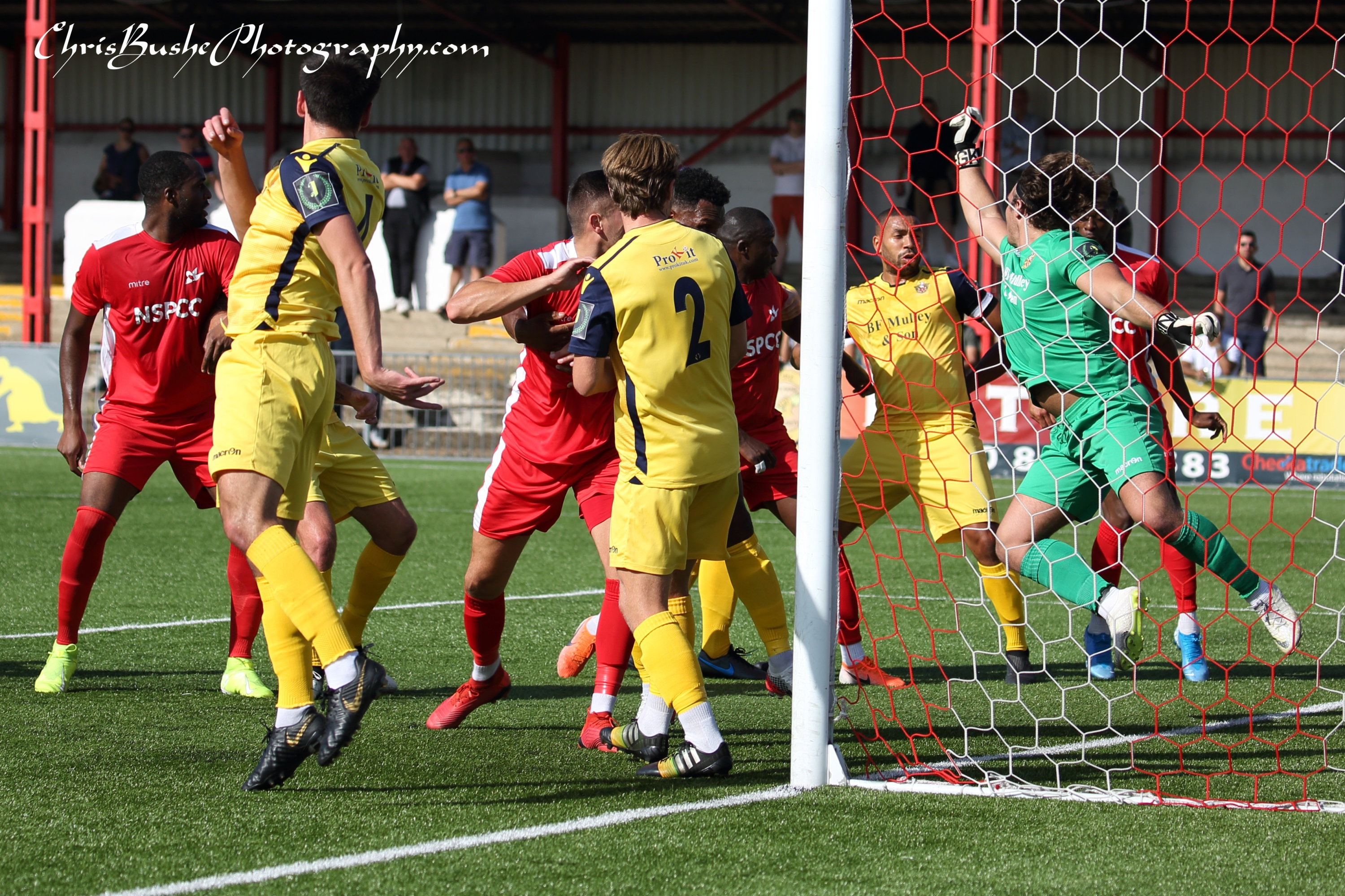 Amoo scoring Carshalton goal. second image
