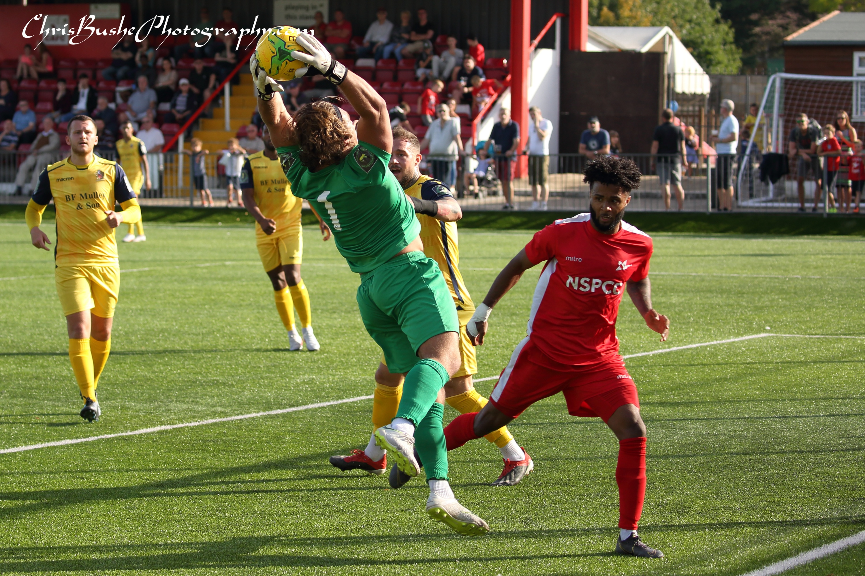 Joseph Right hornchurch keeper keeps Ricky Korboa out agaain