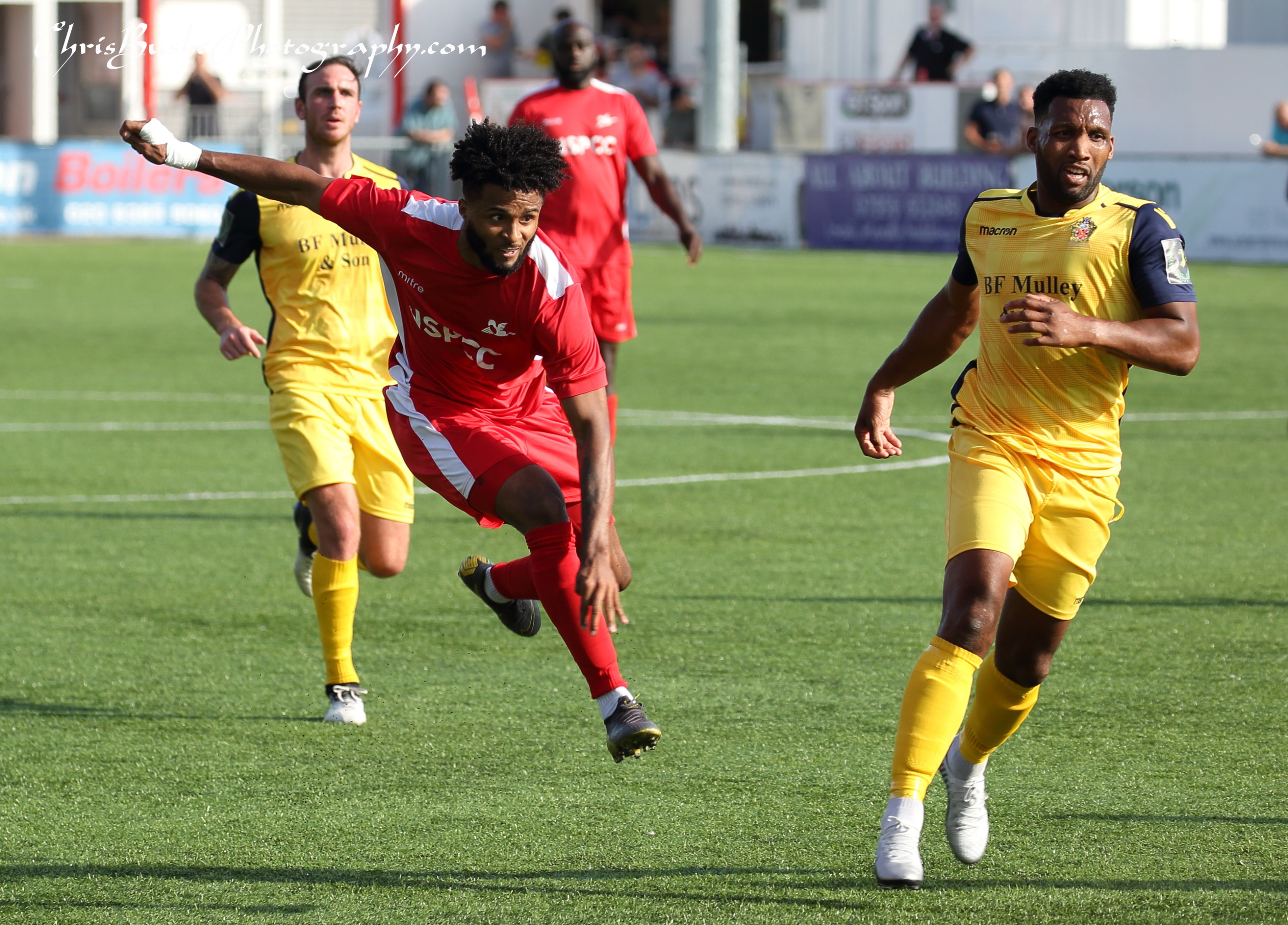 Ricky korboa Carshalton shoots in second half